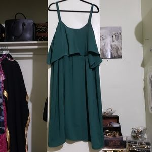 Eloquii Dresses - Eloquii Green Cold Shoulder Dress (Size 24)